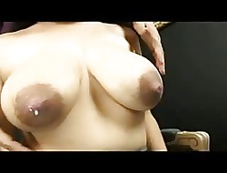 The brush Chubby Pearly Nipples Milked!!!!!!!