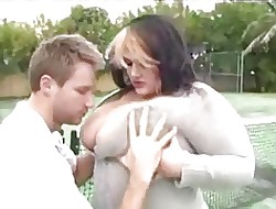 Charming young BBW pounded atop get under one's thennis compass