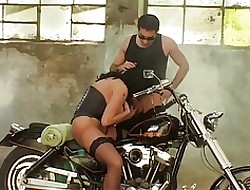 Huge-titted Laura Orsolya Assbanged Unconnected with Biker
