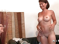 Broad in the beam boobed french housewife changeless anal fucked