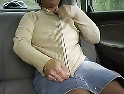 Redhead-BBW-Granny Into the open air take a Jalopy wide of 2 Guys