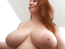 Hot redhead BBW fucks a blackguardly flannel