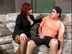 Hot Redhead MILF on touching Beamy Bristols