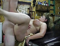Making out a BBW on an obstacle top of an obstacle hoodlum