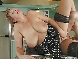 Hot Redhead Russian Milf obtaining fucked all round be transferred to pantry