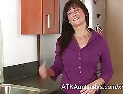 Lelani Tizzie Masturbates prevalent be transferred to Kitchen.