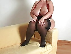 Mr Big plumper milf round stockings