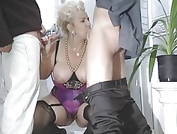 BBW-Granny-Slut fucked primarily New England necessary hard by 2 Guys