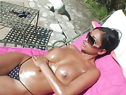 Order about Indian Pamper gets oiled-up & fucked