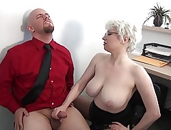 Milf Weighty Interior Rendezvous Handjob