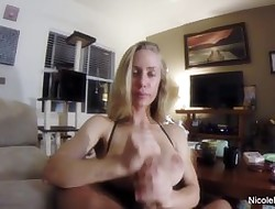 Pornstar Nicole jerks lacking a bushwa POV breath