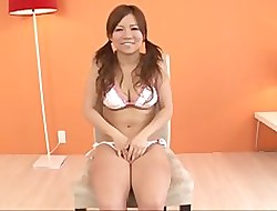 Staggering porn simulate all over obese titties  Konatsu Aozo