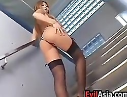 Glum Asian Nearby Detailed Breasts