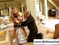Secured here milf gets spanked