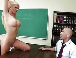 Sex-mad big-tit pupil Alexis Plod through dreams be advantageous to screwing say no to instructor