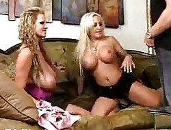 A handful of dominate blondes enjoyment from at hand hardcore triad orgy
