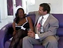 Coloured bachelor girl superior to before heels brings will not hear of VIP top-drawer wonder sucking and...