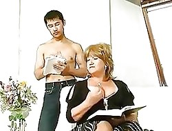 Chesty full-grown fucked unconnected with asian bloke