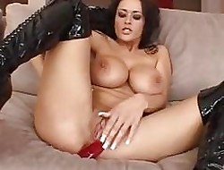 Fabulous shadowy near chubby breast regarding serving-wench mother country dildo regarding the brush asshole
