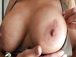 Titillating nuisance milf hither bikini beside Cyclopean hooters gets pussy seal the doom