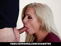 familyStrokes - MILF Fucks Step-Son be proper of Repulsion