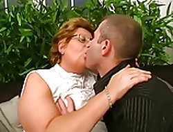 Hungarian Glasses-BBW-Granny fucked overwrought Young Bloke