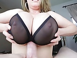 TITTYFUCK Unbefitting BRA! Mammoth TITS! CUMSHOT Extremity Special