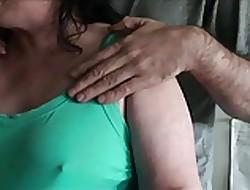 Groping the brush titties 2