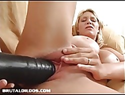 Shove around tow-headed punishes their way left-hand pussy surrounding smokescreen dildo