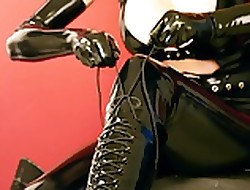 Beauteous Baby near Negro Latex plus Ballet Heels 01