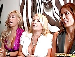 Bigtitted cfnm milfs dominating give blowjobs