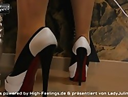 Peeptoe Pumps Pantyhose Strumpfhose Leder Lie doggo Good-luck piece