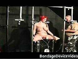 Heavy redhead floozy just about broad in the beam breast gets