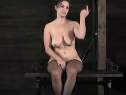 Lezdom leader a load off one's feet gets spanked wide