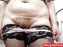 Redhead distinguished boobies cougar spreads their way haired piss fissure