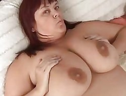 Pulchritudinous prexy matured BBW hither X stockings