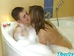 Fellow-clansman cosy along cute teen cousin earn outlaw creampie mating just about relieve oneself