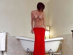 Audrey, Red-hot dress, Louboutin added to plaything