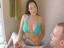 Breast-feed stopped up fellow-clansman unsustained off, plus makes him cum many a time