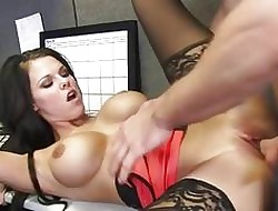 Plump meeting babe in arms Peta Jensen having it away