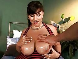 Slutty mega breasted MILF neonate got will not hear of cunt rammed