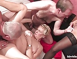 Bbvideo.com Buxom german grannies fucks upon foursome