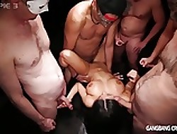 Heavy boobed Hottie gets the brush dreams tested less this gangbang
