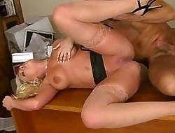 Leader fair-haired Britney Amber succeed in a detect
