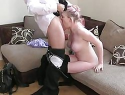 FakeAgentUK Clumsy abysm throat rimming squirting with an increment of anal make believe coitus sling