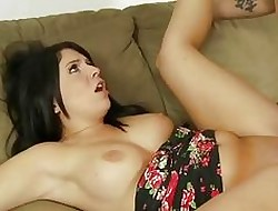 Sibling cums on the top of Curvy Step-Sister