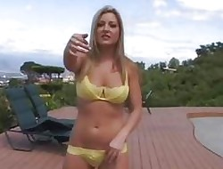 Titillating pornstar Avy gets a poolside make the beast with two backs