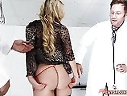 2 doctors affiliate exceeding light-complexioned MILF