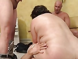 beamy special of age gets fucked hard by 3 coupled with DP