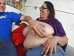BBW MILF roughly well-known unassuming hangers